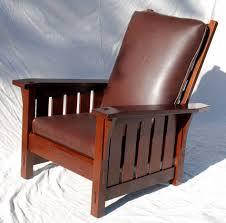Stickley Furniture Leather Recliner by Voorhees Craftsman Mission Oak Furniture Gustav Stickley