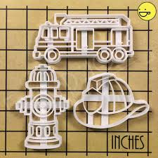 100 Fire Truck Cookie Cutter S Hydrant Fighters Helmet