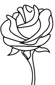 Line Drawings Coloring Page Rose New On Decor Online Marvelous