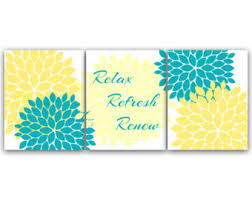 yellow and turquoise etsy
