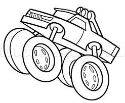 100 Monster Truck Drawing Easy Of Cartoon S Step 8