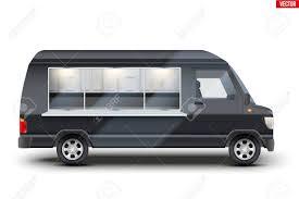 100 Food Truck Window Modern Coffee And Fast Van With Black