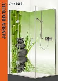 details zu eck duschrückwand dusche wandverkleidung badrückwand motiv zen steine bambus