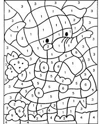 Christmas Color By Number Printables For Kindergarten Kids Addition 2nd Grade Works
