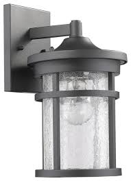 outdoor wall sconce textured black finish glass cylinder lantern