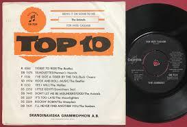 Nostalgipalatset ANIMALS Bring it on home to me Swe orange PS 1965