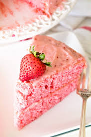 Easy Fresh Strawberry Cake Starts with a Boxed Mix and is Dressed Up Fresh Strawberries