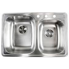 Overstock Stainless Steel Kitchen Sinks by 18 Gauge Stainless Steel Double 33 Inch Top Mount Drop In 60 40