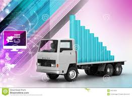 100 Truck Payment Transportation Of Business Graph In Stock Illustration