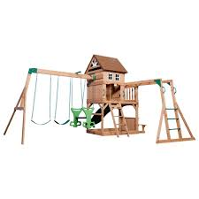 Montpelier Wooden Swing Set - Playsets | Backyard Discovery Backyards Gorgeous Backyard Wooden Swing Sets Ideas Discovery Montpelier All Cedar Playset30211com The Set Accsories Monticello Walmart Itructions Big Appleton Wood Toys Photo With Amazing Unbeatable For Solid Fun Image Happy Kidsplay Clearance Playsets