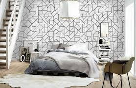 papier peint chambre papier peint géométrique la tendance qui conquit nos intérieurs