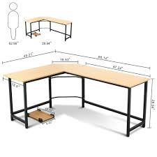 Modern Computer Desk L Shaped by Tribesigns Modern L Shaped Corner Computer Desk Teak Walmart Com