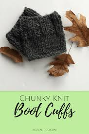 chunky knit boot cuffs a pattern kozy and co