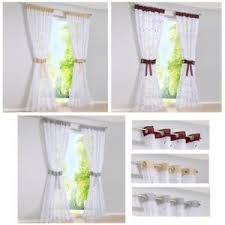 details zu vorhänge wohnzimmer deko gardinen stores weiß fenstergardine schals bestickt