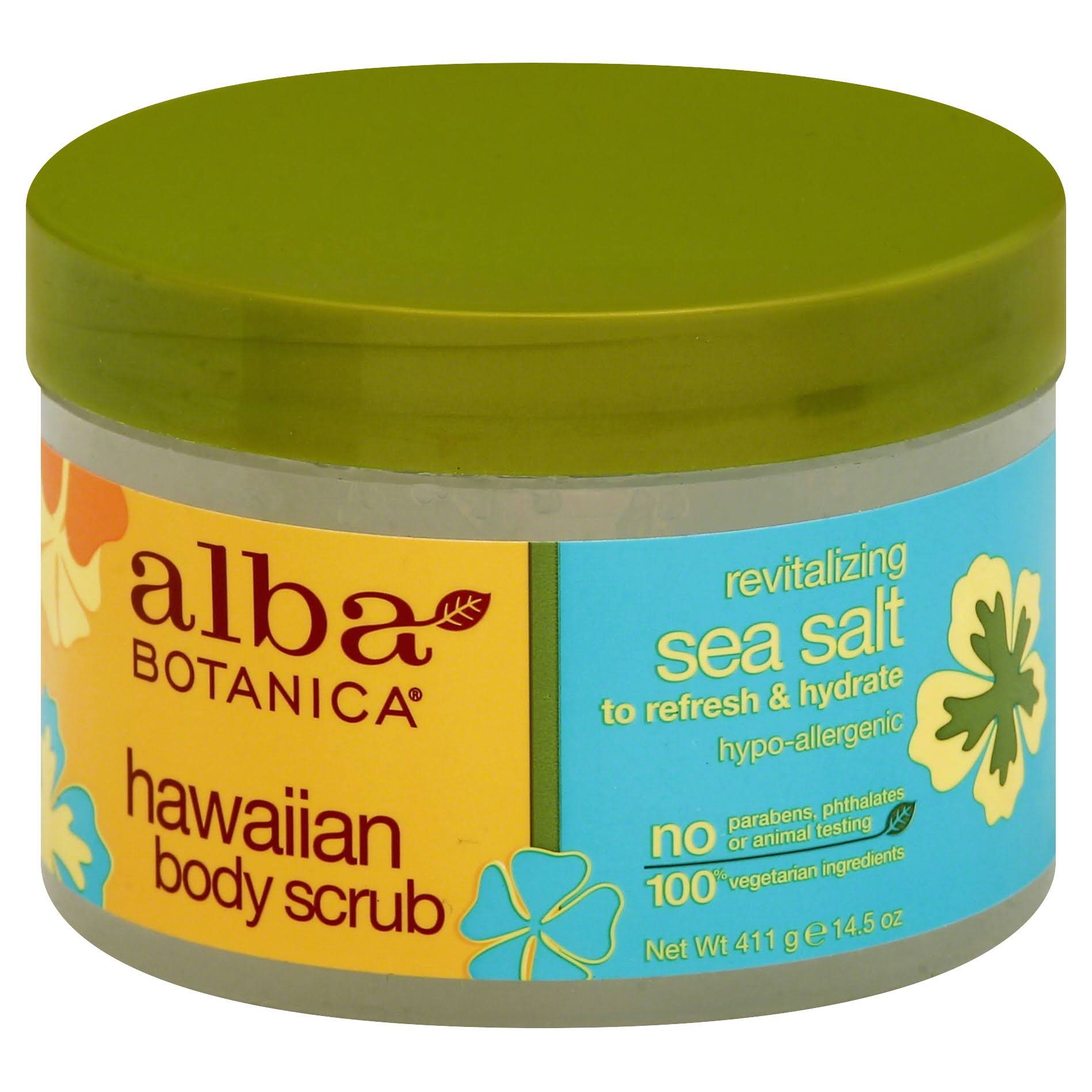 Alba Botanica Hawaiian Body Scrub - Sea Salt, 14.5oz