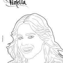 Violetta Singing Coloring Pages