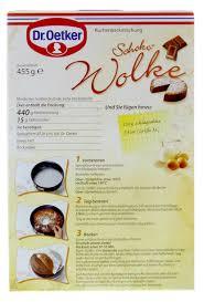 dr oetker kuchen schoko wolke 455g kaufen bei
