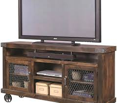 Tv Stand With Casters Wheels New Rustic Console