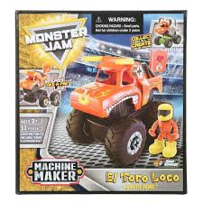 100 Toro Loco Monster Truck El 11 Pc Construction Toy Burkes Outlet