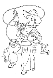 Cowboy Kids Coloring Pages