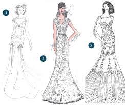 Designer Wedding Dress Sketches For Anne Hathaway