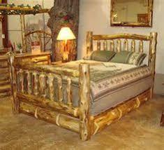 White Cedar Log Queen Bed W Under The Storage