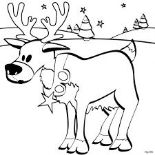 Reindeer Coloring Page For Kids Printable Book Sheet