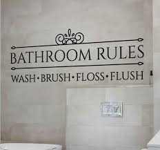 wandtattoo bad badezimmerregeln