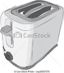 Sketched Toaster Line Drawing Of A Modern 2 Slice
