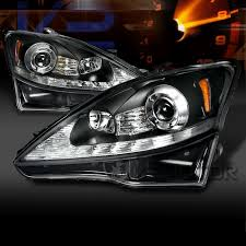 2006 2009 lexus is250 is350 smd led black projector headlights