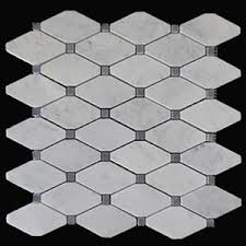 carrara marble italian white bianco octagon mosaic