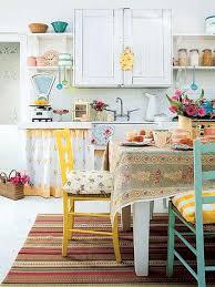 Vintage Kitchen White Chest Drawer Decorations