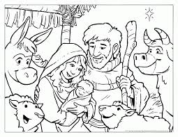 Coloring Pages For Christmas Story
