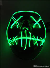 Halloween Club Purge Mask by 2017 The Purge Election Year Mask Led Glowing Masks El Wire Masks