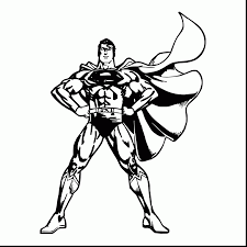 Incredible Superman Black And White With Coloring Pages Free Online
