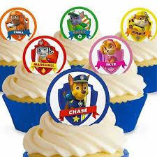 cakeshop 12 x pre cut paw patrol edible cake toppers ebay