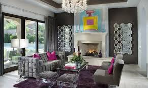 purple living room for vibrant space on furniture light grey sofa
