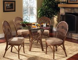 Bermuda Dining Set 5 PC. Set With 4 Captains Chairs 1421SET2 By South Sea  Rattan