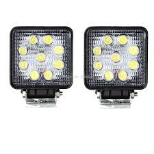 Led Work Lights For Trucks Turbosii Pair 7 Inch Led Light Bar Off Road Driving Fog Lights Super 10w Roundsquare Spotflood Beam Led Work For Car Motorcycle Land Rover Defender Offroad Truck 4x4 27w Round Spot Lightfox 20 Inch 126w Cree 4wd Flood 4 54w Flood Dc 1030v 172056 Lamp 2 Cree For Dicn 1 5in 45w Floodlights 45w Working 1pcs 5inch 18w Pod 2pcs 27w Tractor Boat