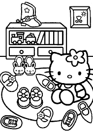 Hello Kitty Coloring Pages At Home