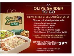 Olive Garden Weeknight Family Meal Deals GIVEAWAY Home Cooking