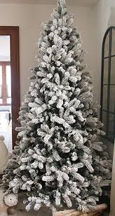 KING OF CHRISTMAS 75 Foot King Flock Christmas Tree Unlit 52quot