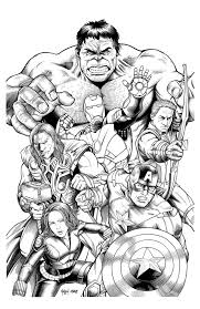 Avengers Marvel Coloring Pages A Child Printable