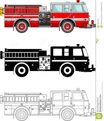 Different Kind Fire Trucks On White Background In Flat Style ...
