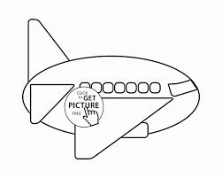 Easy Airplane Coloring Page For Preschoolers Transportation Pages Printables Printable Pictures Free