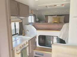 Small Rv Remodel Before And After Awesome Truck Camper Trailer Insta Sara