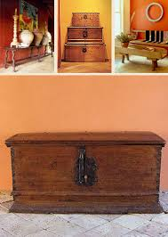 Hacienda Style MEXICAN ANTIQUES Mexican Antique Furniture Spanish Colonial Trunks Benches