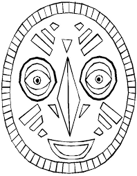 Printable African Masks To Color
