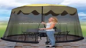 Patio Umbrella With Netting by Umbrella Mosquito Net Canopy Patio Set Screen House Black Youtube