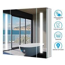 spiegelschränke tokvon led spiegelschrank 63x65cm badezimmer